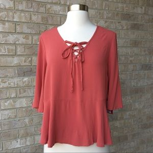 NWT Mossimo Supply Co Bell Sleeve Top Blouse  S 🌸